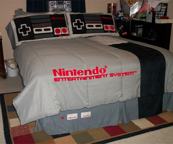 NES Bed: Push Start to Sleep