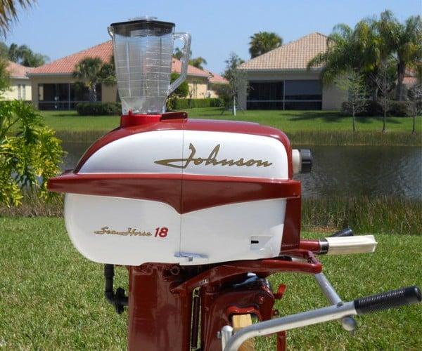 Outboard Engine Drink Blender Runs on Gasoline: But Will it Blend?