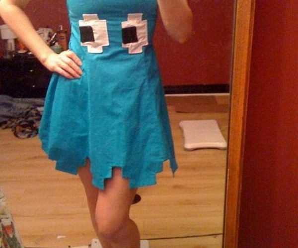 Pac-Man Ghost Dress: You Spilled Some Inky on Yourself