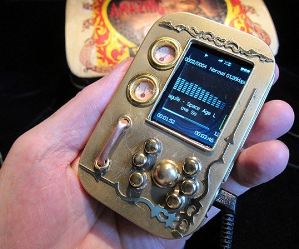 pocket music library steampunk mp3 player by will rockwell 2