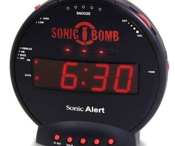 Sonic Bomb Alarm Clock: Wake Up or Go Deaf