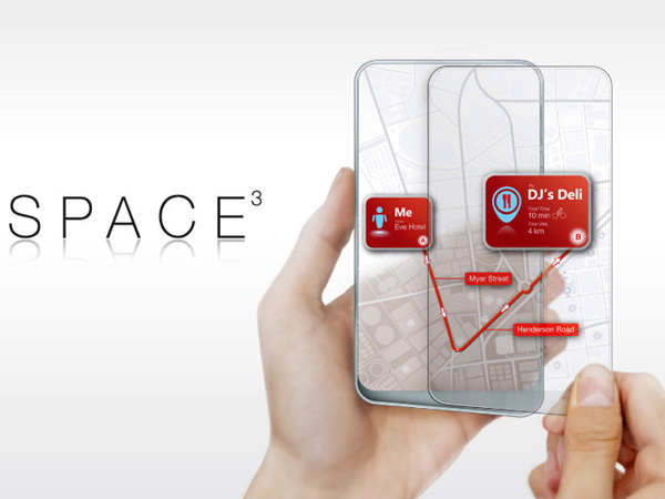 space 3 concept phone by Wenhing Chu and Kok Keong Wong