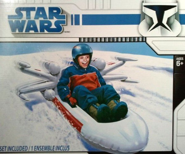 Inflatable X-Wing Fighter Snow Sled is Perfect for Your Hoth Ski Trip