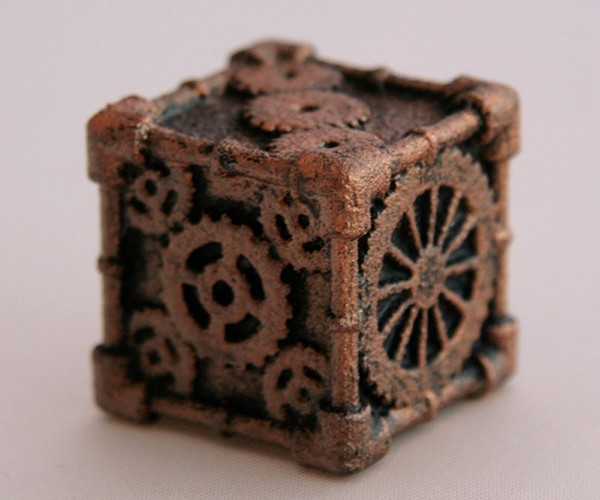 steampunk 6 sided dice by mechanical oddities 2