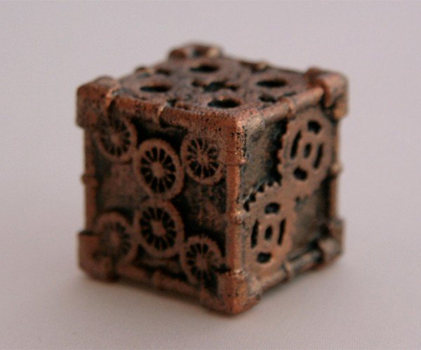 steampunk 6 sided dice by mechanical oddities 3