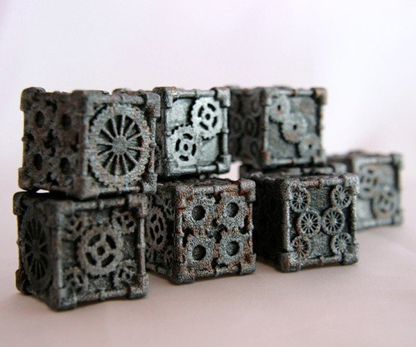 steampunk 6 sided dice by mechanical oddities 4