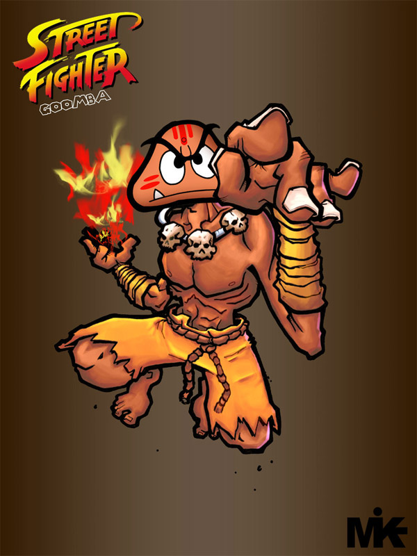 street fighter mario goomba