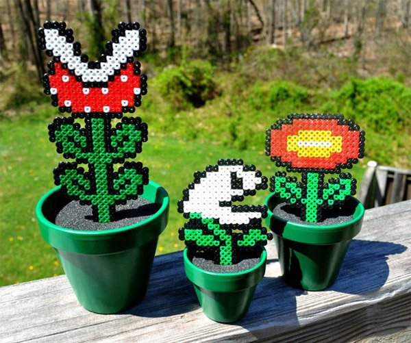 super mario bros potted plants 1