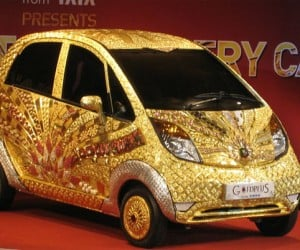 Gold and Jewel Encrusted Tata Nano Gives Tatas a Bad Name