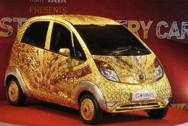 Golden Tata Nano