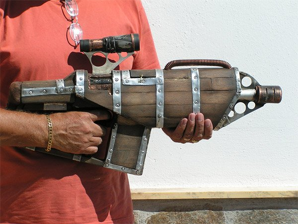 wooden big daddy nerf gun