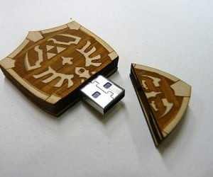 Zelda Hylian Shield USB Drive: The Legend of Data: The File Transfer