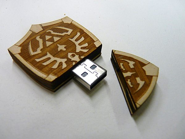 zelda hylian shield usb flash drive by zantaff