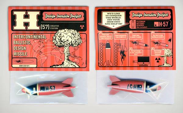 h-57 rocket usb design stick flash drive