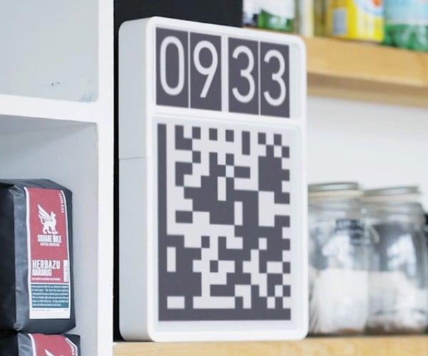 Datamatrix QR Code Clock Helps Robots Tell Time