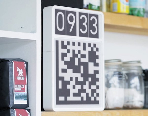 barcode datamatrix qr code clock robots