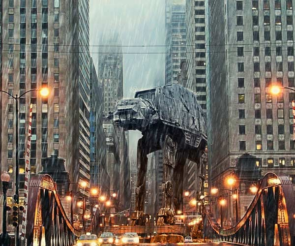 AT-AT Storms Chicago: Must Have Thought it Was Hoth