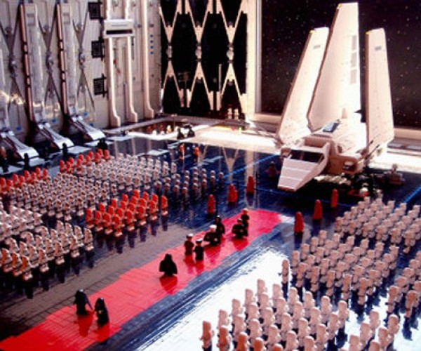 LEGO Star Wars Death Star Landing Bay Diorama Made from Over 30,000 Bricks
