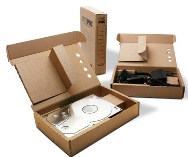 BytePac: Recyclable Cardboard USB Hard Drives
