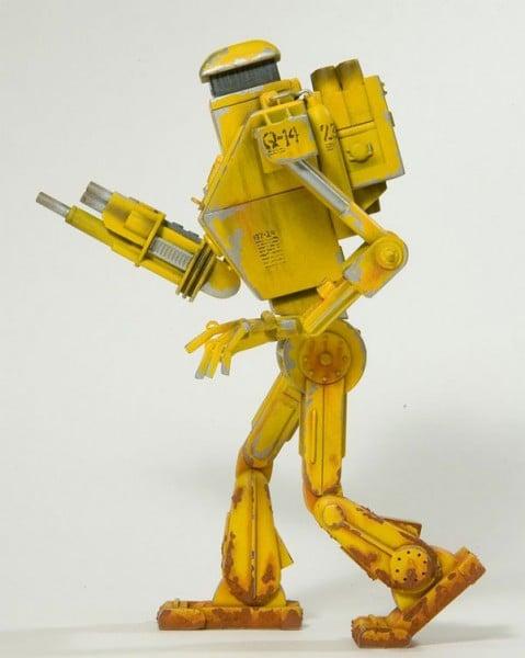 q-14 reconaissance robot john neiner scratch built yellow starship modeler