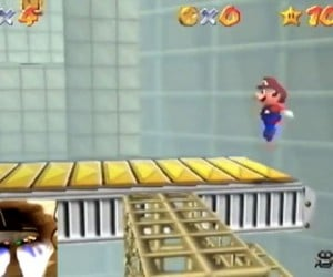 Guy Completes Super Mario 64 Using Only His Feet!