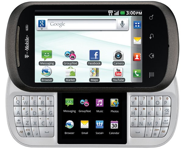 lg t-mobile doubleplay text phone smartphone slide-out keyboard touchscreen