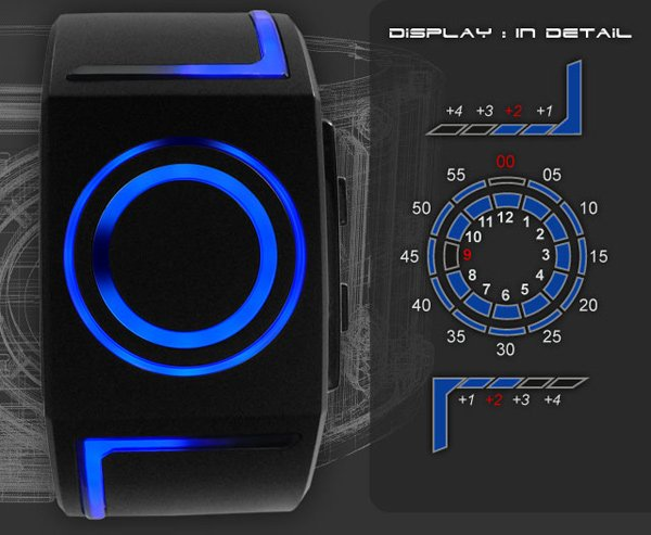 tokyoflash japan watch timepiece led tron