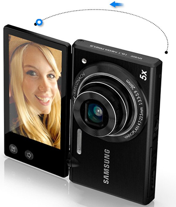 samsung mv800 flip screen multiview camera point and shoot