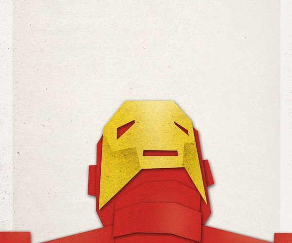 Gregoire Guillemin papercraft design superheroes art geek