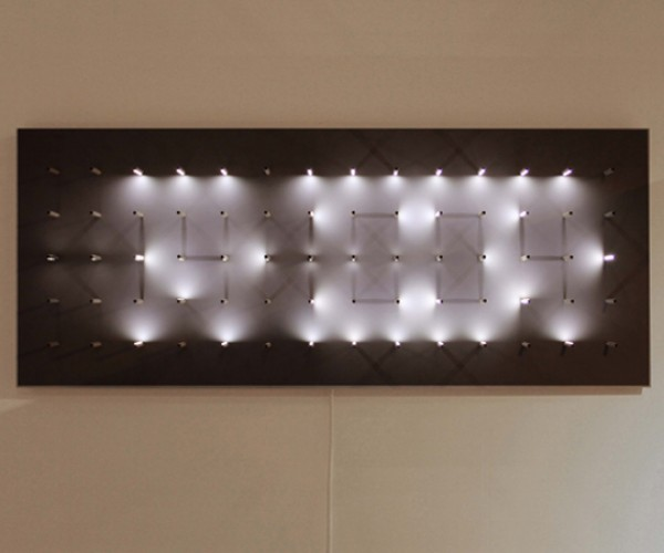 Study of Time Clock: LEDs and Shadows Tell Time