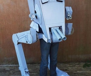 Cardboard AT-ST Walker Costume Looks Awesome