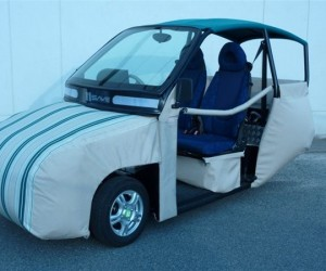 "The ""World's Safest Electric Vehicle"" Has Air Bags on the Outside"