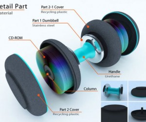 CD Dumbbell Concept: Build Some Muscle with Your Old Compact Discs