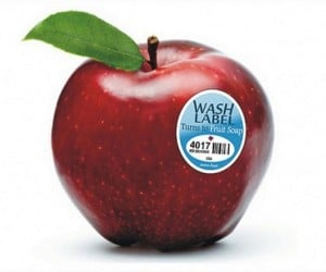 Wash Label: From Fruit Sticker to Fruit Soap