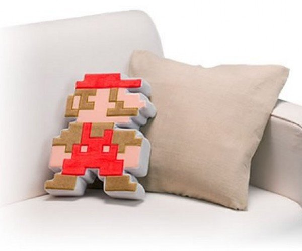 Pixelated Mario Cushion: For Japan's Club Nintendo Only of Course
