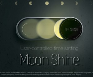 Moon Shine Clock Goes Through its Many Phases