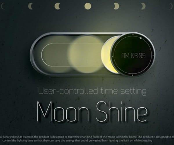 Moon Shine Clock Goes Through its Many Phases
