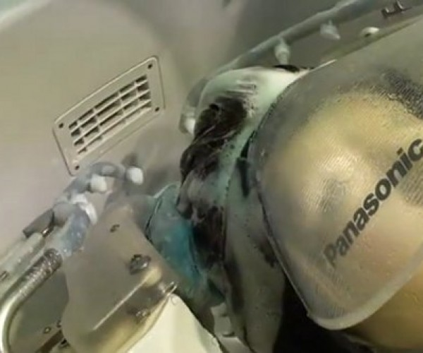 Panasonic Shampoo Robot is Like a Car Wash for Your Head