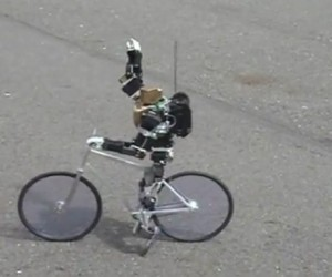 Primer-V2 Robot Rides a Bike, No Training Wheels Needed