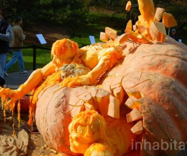 World's Largest Pumpkin Now World's Coolest Zombie Sculpture