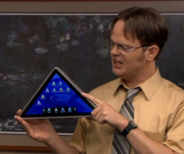 Dwight's Pyramid Tablet Looks Awesome, But Probably Isn't Very Useful
