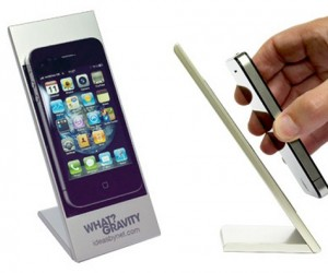 What? Gravity Phone Holder Seems to Defy Gravity