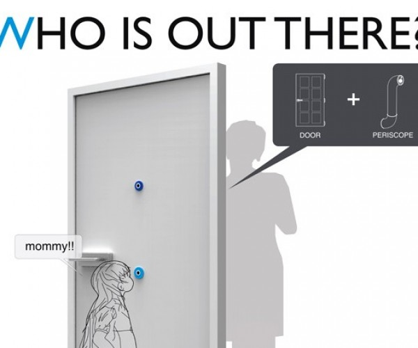 """Who Is Out There?"" Peephole Periscope Lets Kids See What's on the Other Side of the Door"