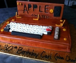 Original Apple 1 Birthday Cake: 8-Bit Baking