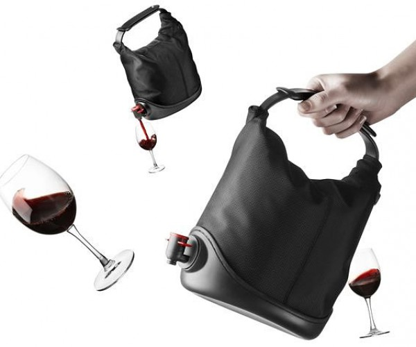The Baggy Winecoat is a Pleather Purse to Carry All Your Booze