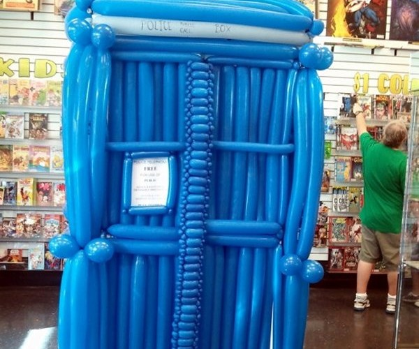 Balloon TARDIS for Clowns Traveling through Time and Space