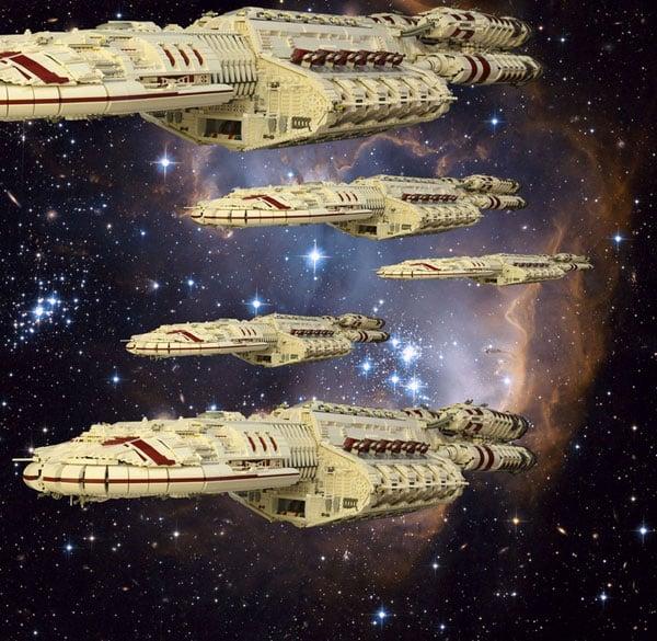 Ferrari 308 Gts For Sale >> Giant 54-Pound LEGO Battlestar Galactica Spaceship Taunts ...