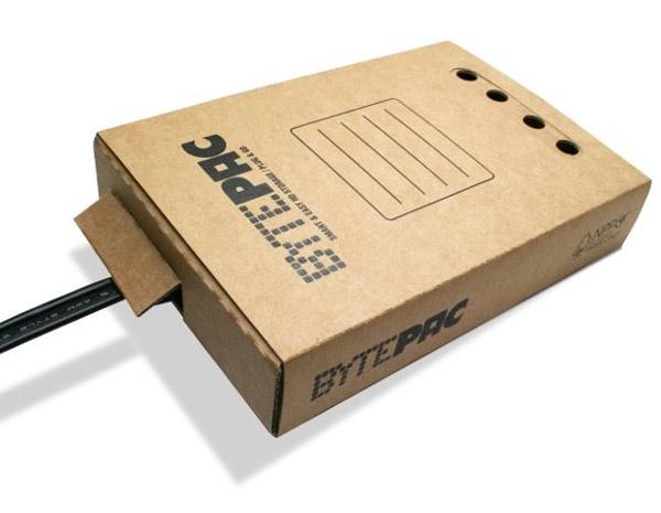 bytepac cardboard hard drive