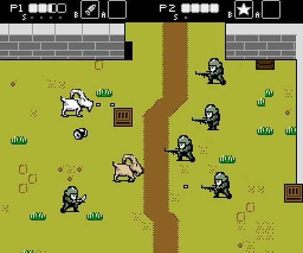Goats vs. Nazis Could Be the Next NES Game