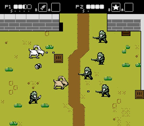goats vs nazis nes game